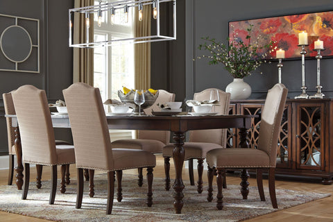 Charming Baxenburg Table W/ 6 Chairs