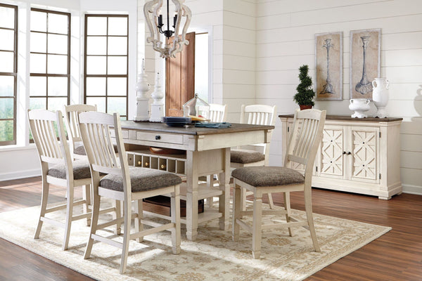 Bolanburg Counter Height Dining Room Set Table W 4 Chairs Katy Furniture