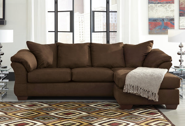 Darcy Chocolate Sectional Katy Furniture