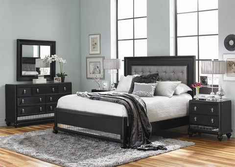 Diva Midnight Bedroom Set - Katy Furniture