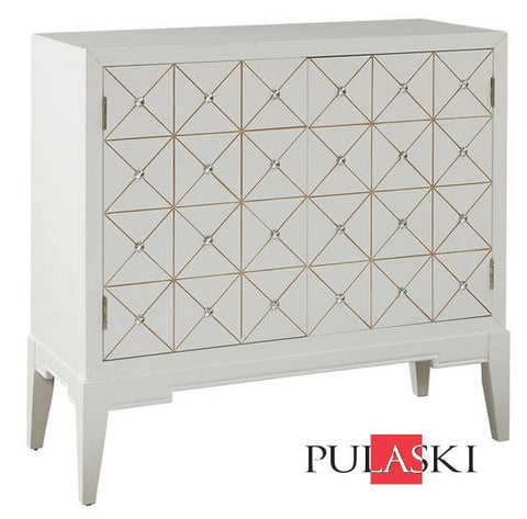 Glenda White Cabinet - Katy Furniture
