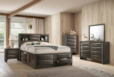 Emily Grey Queen Storage Bedroom Set