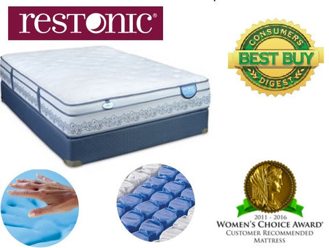 Gentilly II Eurotop Plush Queen Mattress & Boxspring
