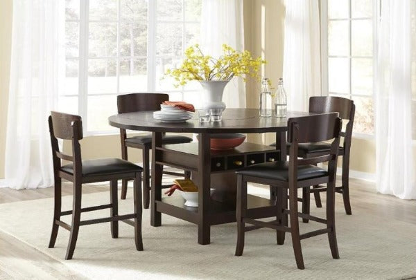 Conner Round Into Square Table W 4 Chairs Katy Furniture