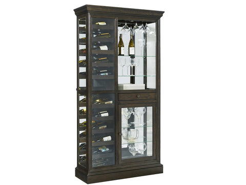 Hillsville Wine Curio - Katy Furniture