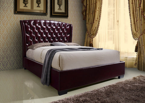 Kaitlyn Wine Bed & Promo Mattress and Boxspring