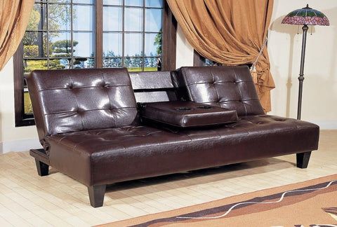 Bennett Futon w/ Cup Holder - Katy Furniture