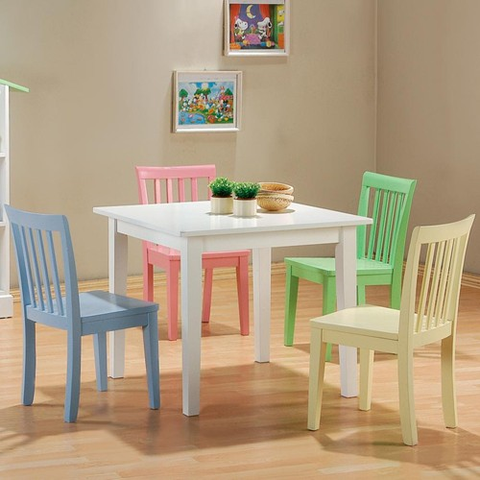 Kinzie Table w/ 4 Chairs - Katy Furniture