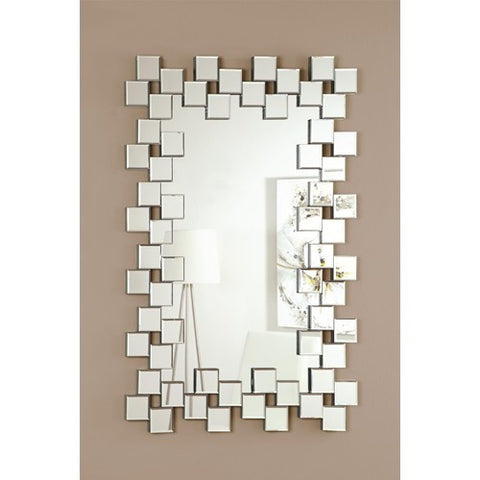 Frameless Contemporary Wall Mirror - Katy Furniture