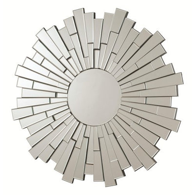 Contemporary Round Frameless Mirror - Katy Furniture
