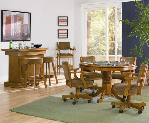 Mitchell Oak Game Table w/ 4 Chairs