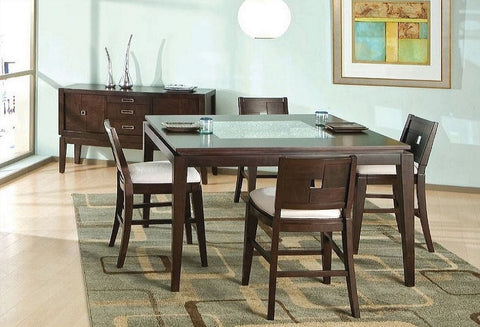 Spiga Counter Height Table w/ 4 Chairs - Katy Furniture