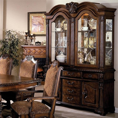 Neo Renaissance Traditional Formal Dining Upholstered Side: Neo Renaissance Table W/ 6 Chairs