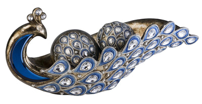 Peacock Decorative Bowl W/Spheres - Katy Furniture