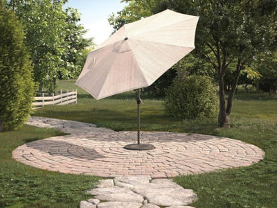 Beige 9' Octagonal Patio Umbrella - Katy Furniture