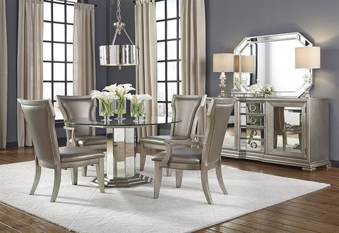 Couture Round Dining Table W/ 4 Side Chairs