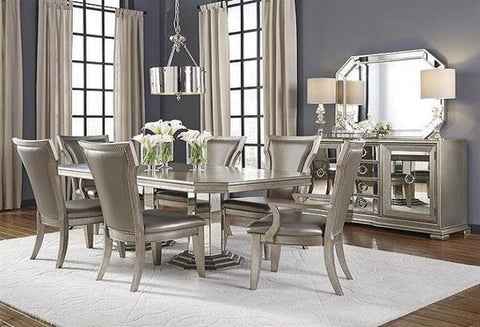 Couture Dining Table W/ 4 Side Chairs & 2 Arm Chairs