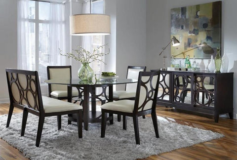 Planet Round Table w/ 4 Chairs - Katy Furniture