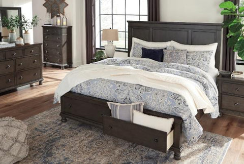 Peppercorn King Storage Bedroom Set