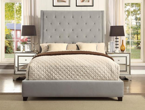 Reese Queen Upholstered Bed with Button Tufting