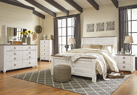 Willowton Full Bedroom Set - Katy Furniture