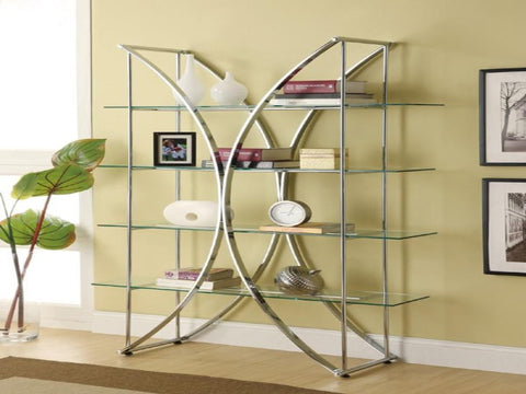 Chrome Bookcase