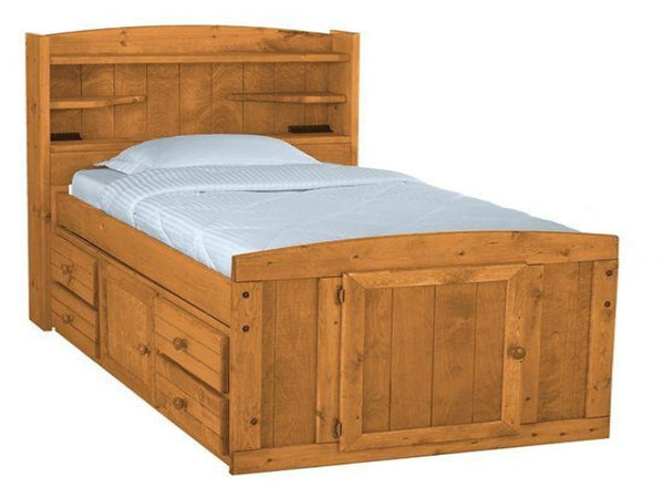 palomino twin captain bed katy furniture. Black Bedroom Furniture Sets. Home Design Ideas