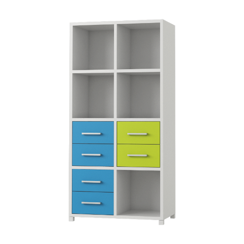 Standing Cube Shelving with Drawers