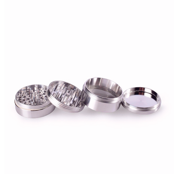 4-Piece Aluminum Sifter Grinder - Medium