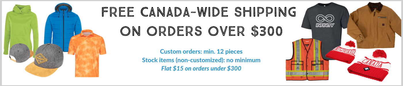 Free Canada-Wide Shipping on Orders Over $300