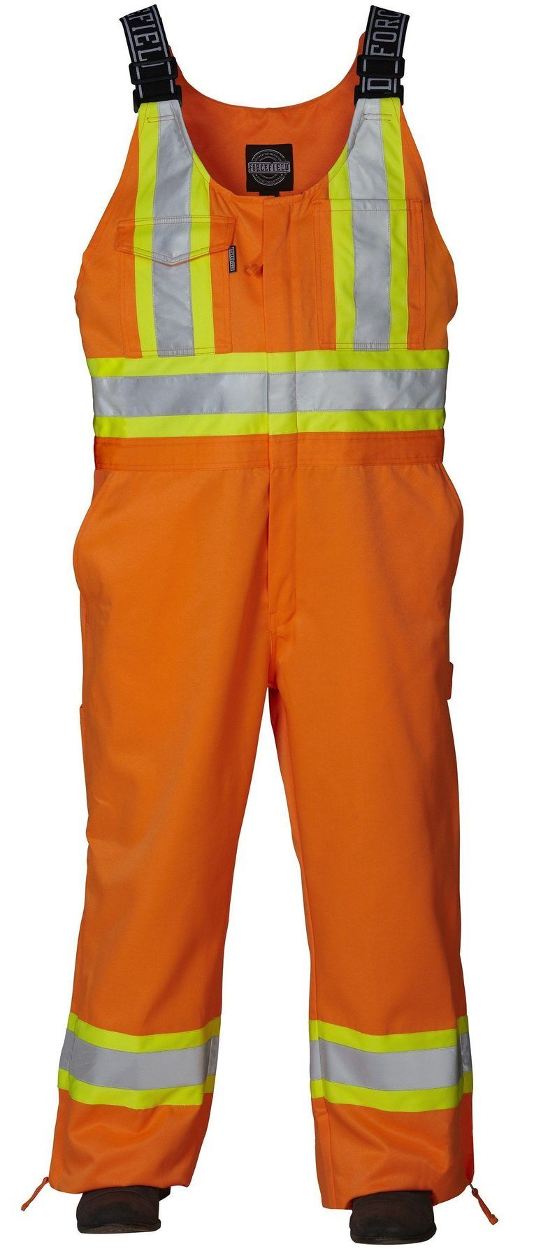 Forcefield - Safety Unlined Bib Overall - 024-OR141 - Orange - front