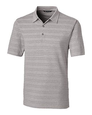 Cutter and Buck Forge Heather Stripe Polo - MCK00112 - Polished