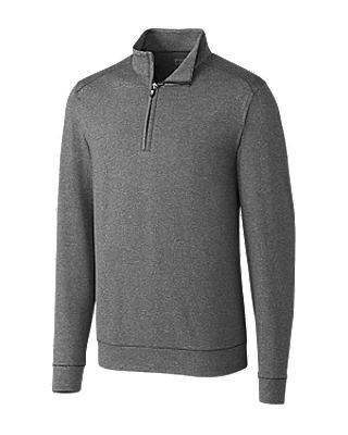 Cutter and Buck Shoreline Half-Zip Sweater - MCK09264 - Charcoal Heather