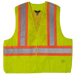 Tough Duck 5-Point Tearaway Safety Vest - S9i0 - Fluorescent Green
