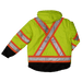 Tough Duck 5-in-1 Safety Jacket - S426 - Fluorescent Green - back