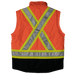 Tough Duck 5-in-1 Safety Jacket - S426 - Fluorescent Orange - vest- back