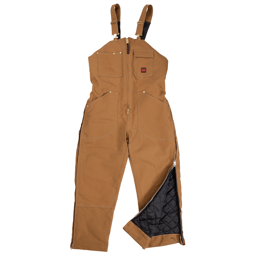 Tough Duck Insulated Bib Overalls - 7537 - Brown