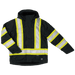 Tough Duck Fleece Lined Safety Jacket - S245 - Black