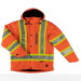 Tough Duck Fleece Lined Safety Jacket - S245 - Solid Orange