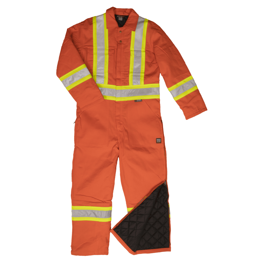 Tough Duck Insulated Safety Coverall - Cotton Duck - S787 - Orange