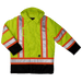 Tough Duck Lined Safety Parka - S176 - Fluorescent Green