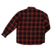 Tough Duck Quilted Flannel Shirt - WS05 - Red Plaid - back