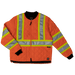Tough Duck Quilted Safety Jacket - S432 - Fluorescent Orange