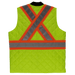 Tough Duck Quilted Safety Vest - SV05 - Fluorescent Green - back