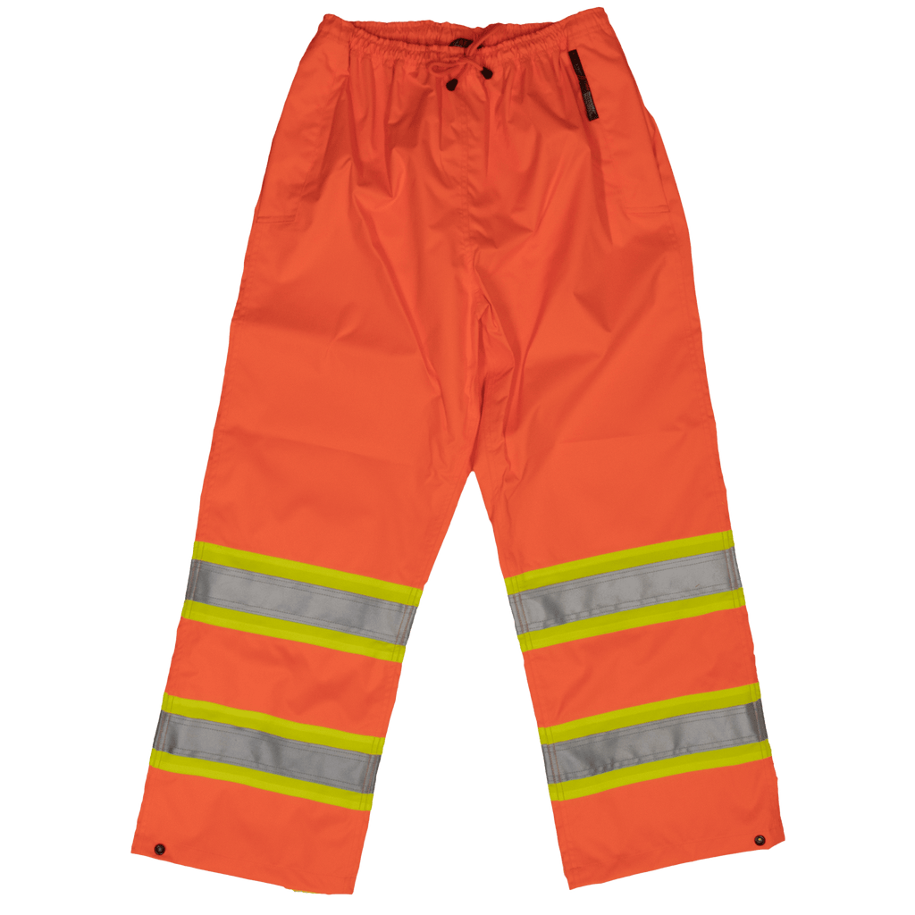 Tough Duck Safety Rain Pant - S374 - Fluorescent Orange