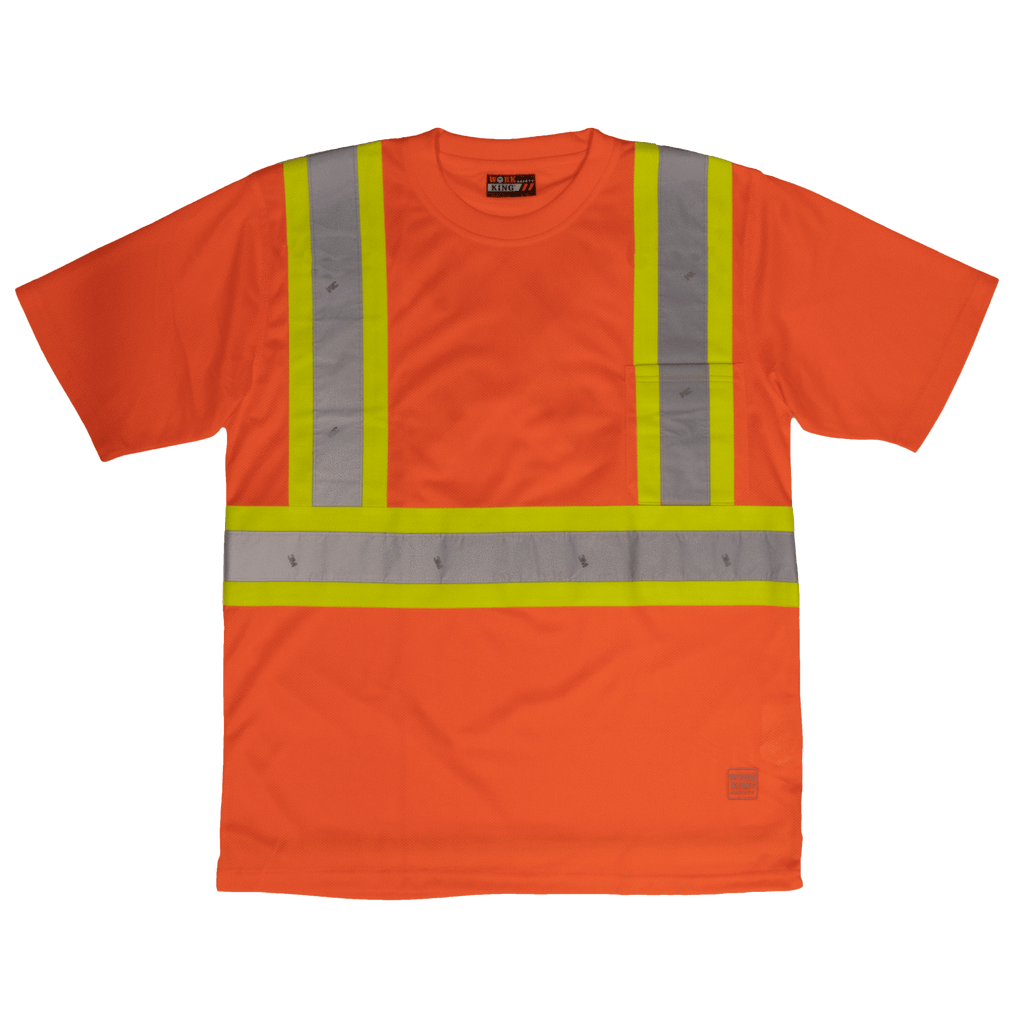 Tough Duck Short Sleeve Safety T-Shirt - S392 - Fluorescent Orange