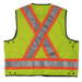 Tough Duck Surveyors Safety Vest - S313 - Fluorescent Green - back