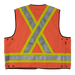 Tough Duck Surveyors Safety Vest - S313 - Fluorescent Orange - back