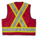 Tough Duck Surveyors Safety Vest - S313 - Red - back