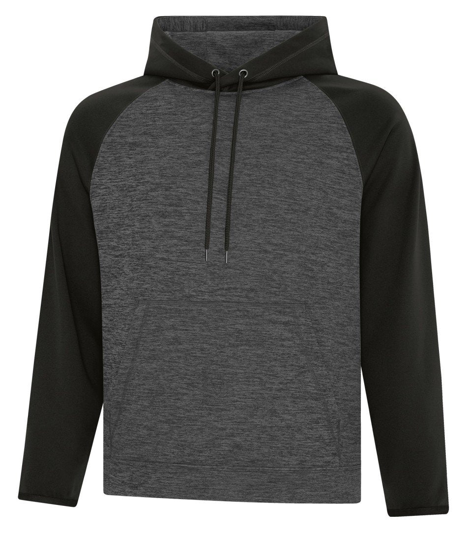 Performance Fleece Sweater: Premium Colour Variations Heather Two Tone Pattern - F2047 - Black